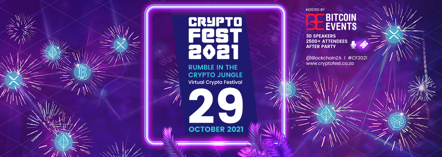 Bitcoin Events' popular Crypto Fest is back for its third edition on 29 October 2021 and once again will be hosted online with controversial speakers and discussions. The event will be a festive gathering of 2,500+ attendees, uniting entrepreneurs, traders, investors, developers, industry enthusiasts, among others, with a jam-packed day with exciting keynotes, workshops, presentations, contentious topics, product exhibitions, competitions and entertainment.
